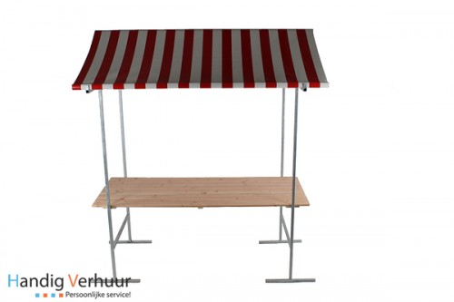 Marktkraam met stalen frame (binnen en buitengebruik)