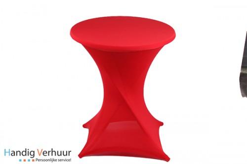 Statafel + rok rood