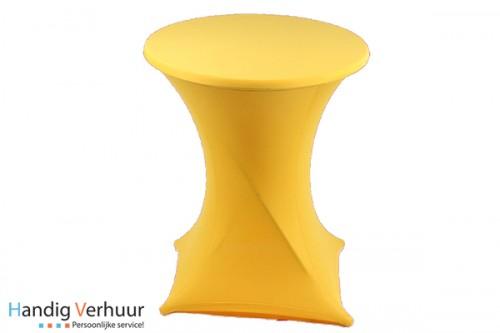 Statafel + rok geel