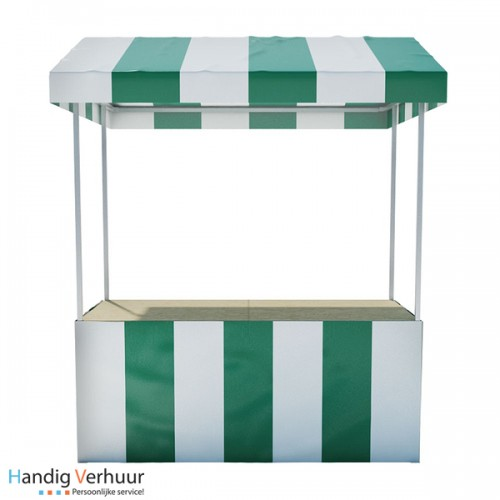 Groen / Witte luxe marktkraam (voor binnen en buitengebruik)