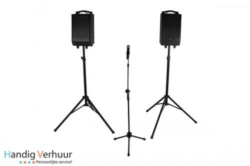 Speakers met microfoon